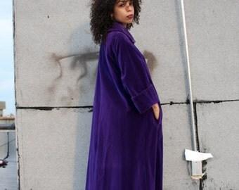 Purple Rain Velvet Coat- Medium