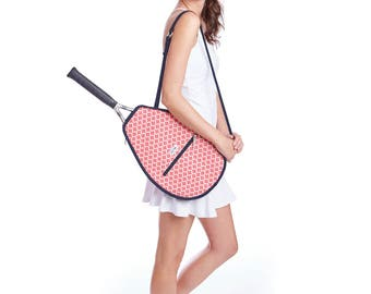 Riley Racquet Cover by Ame & Lulu - Tennis Racquet Bag
