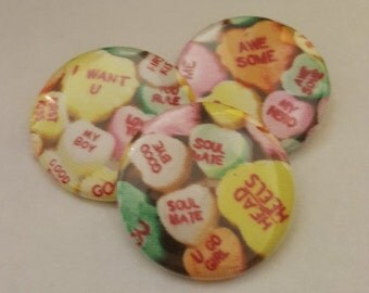 Candy Conversation Heart Pin