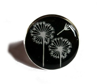 DANDELION RING - Flower ring - Christmas gift - Dandelion jewelry - Girlfriend gift - Plant jewelry - Floral jewelry - Floral ring - Nature