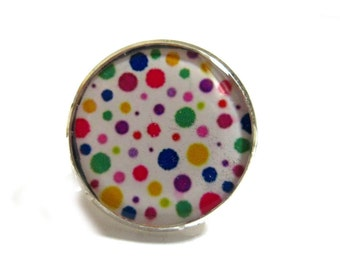POLKA DOT RING - Colorful Polka dots - Modern Minimalistic Ring - Statement Ring - colorful modern jewelry