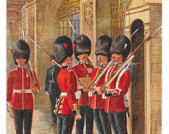 Changing of the Guard, Buckingham Palace Postcard, c. 1910