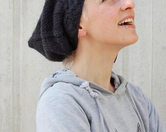 Sloochie slouchy pixie Hat PDF knitting pattern (instructions)