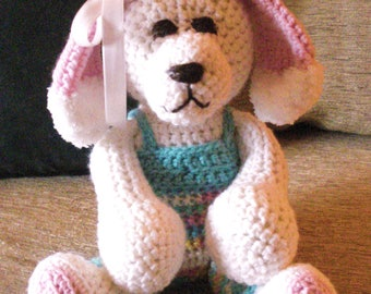 """Crocheted puppy dog stuffed animal doll toy """"Sophie"""""""