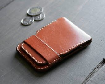Slim Leather Wallet - Mens Wallet - Minimalist Wallet - Handmade Wallet - Card Holder - Simple Wallet - Card Wallet - Brown Leather Wallet