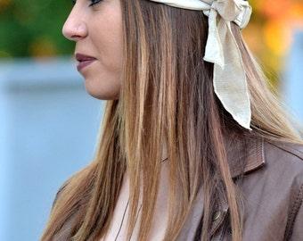 Girls Headband, Cream Headband, Boho Headband, Hair Accessories, Womens Workout , Womens Turban, Womens Headband, Retro Headbands, Boho Wrap