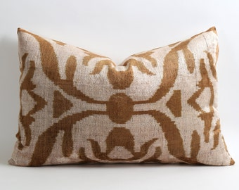 ikat pillow, velvet pillow, decorative pillow, throw pillow, pillow, ikat velvet pillow, ikat, housewares, velvet, ikat pillow cover