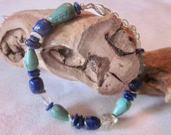 Lapis lazuli & Turquoise Bracelet