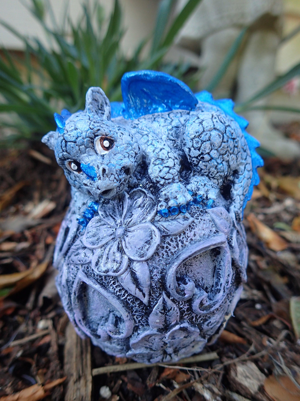 Dragon Garden Statue Fairy Garden Dragon Cement Baby Dragon