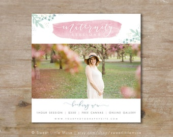 Maternity Session Template - Maternity Photography Marketing Template - Pregnancy Sessions