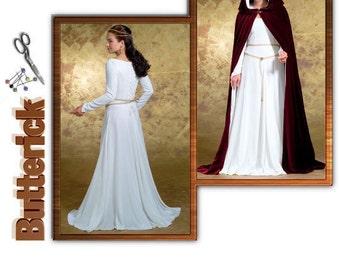 Butterick Sewing Pattern B4377 Cloak and Dress Size 6-8-10-12