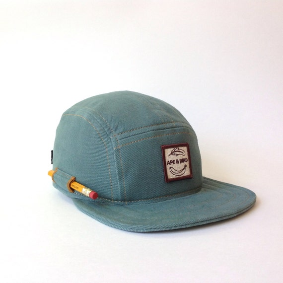 5 Panel Handmade Pencil Hat Camp Cap Carpenter Hat By ApeNBird