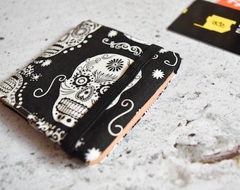 Porta tessere *CALAVERAS GLOW in the DARK* / card holder / business card / credit card