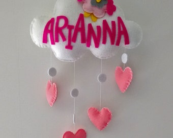 Custom Cloud-Stitchable baby mobile