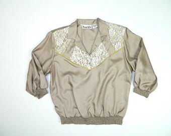 Vintage Abstract Blouse sz XL