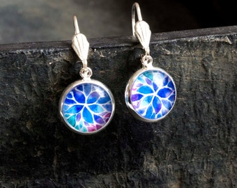 Glass earrings pattern