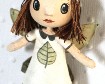 Mini doll fairy of the Woods 'Spring'