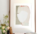 Extra Large Wall Art Decor, Beach Home Artwork, Modern Abstract White Wall Art Giclee Print