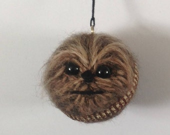 Chewbacca inspired crochet Baubles for Star Wars fans!