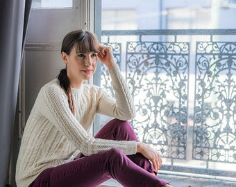 Baby Alpaca Wool Cable Sweater