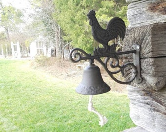 Cast Iron Rooster Chicken Bell