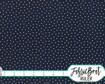 NAVY BLUE STAR Fabric by the Yard Fat Quarter Fabric Blue & Cream Star Fabric Blue Quilting Fabric 100% Cotton Fabric Apparel Fabric w4-19