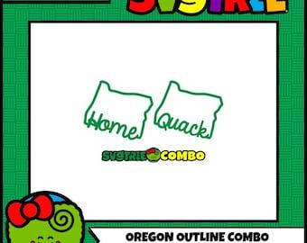 Oregon SVG, State Outline SVG, Duck SVG, Cricut Files, Silhouette Files, Oregon Decor, state svg, Cricut Design Space, Silhouette Studio