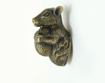 Vintage Squirrel With Nuts Solid Brass Bottle Opener Antique Cabin House Bar Decor