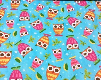 Robert Kaufman 'DISCOUNTED Price' - On a Whim Owl AAS-9586-70 patchwork quilting fabric