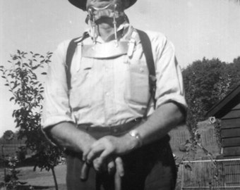 Vintage Photo..Neck Brace, 1950's Original Found Photo, Vernacular Photography