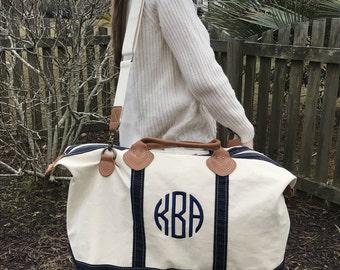 Large Weekender Bag - Monogram - Weekender Bag - Canvas