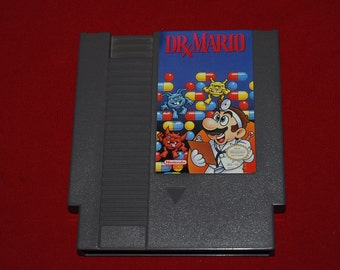90s Dr Mario NES Nintendo classic video game entertainment system retro puzzle virus Doctor gamer 80s