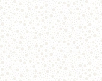 White on White Fabric, Morning Mist - Polka Dot  - Blank Quilting - 7337 W - Priced by the Half Yard