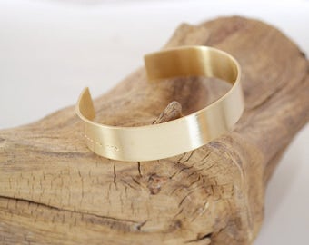 Morse Code Bracelet - Custom Morse Code - Personalized Cuff Bracelet - Morse Code Jewelry - Custom Gold Cuff - Strong - Pink Lemon Design