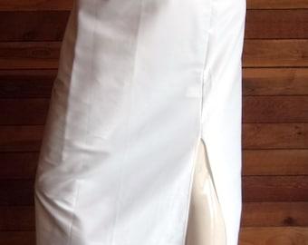 Vintage Lingerie 1980s KAYSER White Size Medium Taffeta Formal Length Half Slip