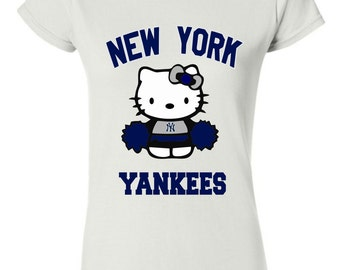 Similar S-2XL New York Yankees Hello Kitty T-shirt