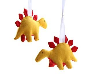 Dinosaur Curtain Tiebacks - Fabric Stegosaurus Curtain Hold Backs