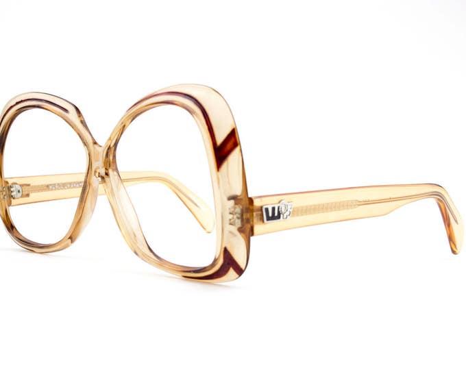 60s Vintage Glasses   Oversized Glasses   1960s Eyeglasses   Clear Glasses   NOS Deadstock Eyewear - WOF1030-3