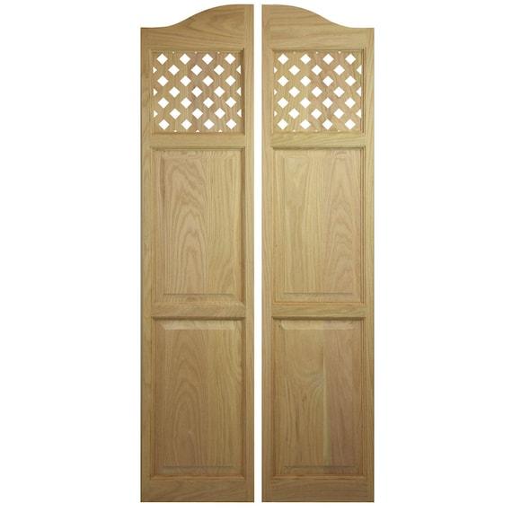 Custom Oak Full Length Swinging Interior Doors Cafe Doors Saloon Doors From