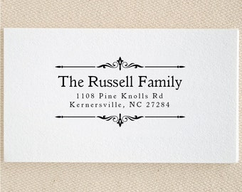 Personalized Custom Family Name Return Address Stamp - Great Wedding, Newlywed, Housewarming, New Home, Self inked, Pre-inked RE594