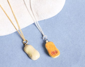 Butternut squash necklace, Sliced, gift for friendship, gift for him, gift for her, couples necklace, squash necklace