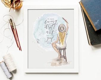 Painter Girl Print