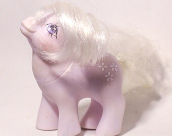 My Little Pony MLP G1 - Play and Care BABY Blossom, Vintage Ponies, Vintage My Little Pony, 80s toys