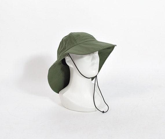 SALE 40% OFF - Bergans of Norway Olive Green Waterproof Fisherman Sailor Rain Hat / Size M