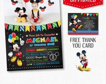 MICKEY MOUSE INVITATION, Birthday Invitation, Mickey Mouse Birthday, Printable Invitation, Mickey Mouse Invite, Mickey Mouse Invitations