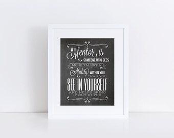 Mentor Gift, Mentor Teacher Gift, Teacher Appreciation, Appreciation Gift, Gift for Mentor, Thank You Gift, 8x10 Instant Download Printable