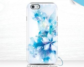 iPhone 7 Plus iPhone SE Case Flower Tie Dye iPhone 6s 3D iPhone 6 Plus Case Galaxy S7 Case Blue Floral iPhone 6 Case iPhone 7 Case 15t