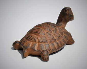 Turtle, Cast Iron, Paperweight, Ocean Life Figurine, Beach Décor, Nature Lover Statue, Sea Turtle Collector Gift!!