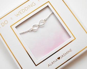Infinity Bracelet,Jewelry,Bridesmaid Gift,Jewelry Gift,Gift for her,Girlfriend Gift,Gift for Women,Gift,Christmas Gift, Christmas Gifts