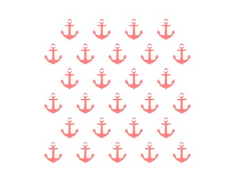 Anchor Cookie Stencil, Anchors Stencil, Nautical Cookie Stencil, Nautical Cake Stencil, Anchor Cake Stencil, Baby Shower Cookies, 5.5 x 5.5